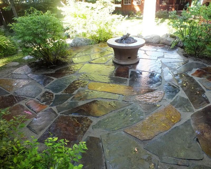 Custom Slate Rock - BlueSlate WoodStone on Slate Patio Ideas id=99633